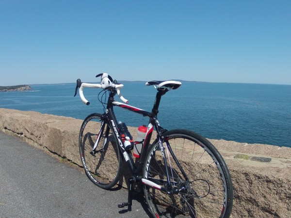 There was nothing but blue sky, rocks, water and cycles as far as the eye could see down at Acadia National Park during Bike Acadia Month.