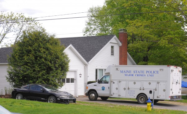 Maine State Police investigate the home of Kyle Dube at 5 Maplewood Ave. in Orono on Sunday, May 19.