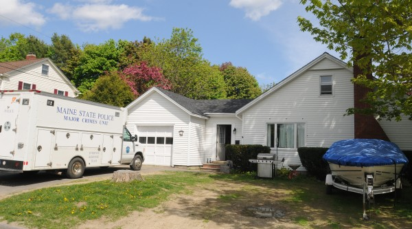 Maine State Police investigte at the home of Kyle Dube at 5 Maplewood Ave. in Orono on Sunday, May 19.