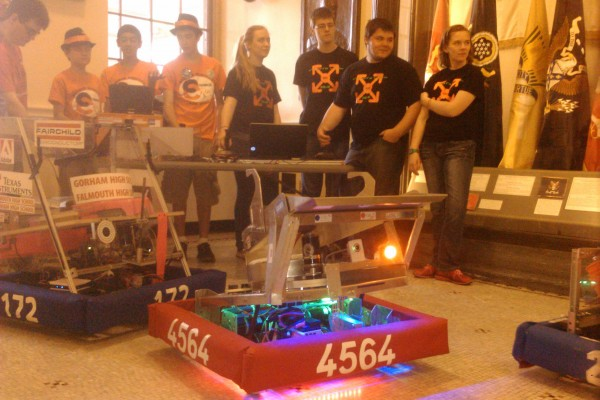 Students from across Maine who have designed, built and competed with robot forms gathered in the State House on Wednesday to celebrate and promote STEM education.