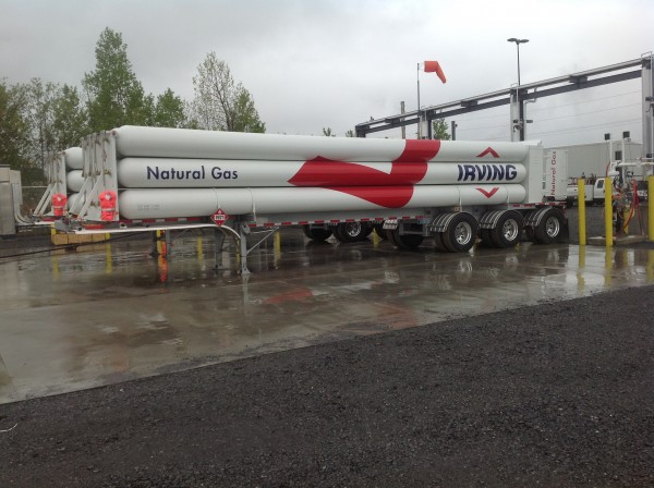 "Irving Oil delivered its first truckload of compressed natural gas, or CNG, to the McCain Foods plant in Easton, Maine, on May 10. Truck-delivered CNG is ""at the leading-edge of natural gas technology,"" said Paul Browning, Irving Oil's president and CEO."