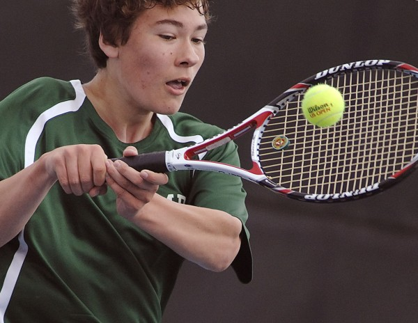 Mount Desert Island's Luke Horton has led the Trojans to the No. 1 seed in Eastern Maine Class B as team tennis playoffs get under way.