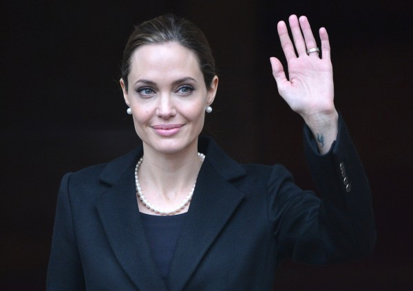 Angelina Jolie in April 11, 2013. The actress and humanitarian's aunt died of breast cancer Sunday, a hospital spokesman in California said, nearly two weeks after Jolie wrote about electing to have a double mastectomy after learning she had inherited a high risk of breast cancer.