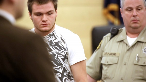 Kyle Dube, the 20-year-old charged with murder in the death of Nichole Cable, made his first court appearance at the Penobscot Judicial Center Wednesday in Bangor.