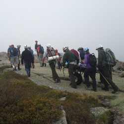 Rescuers carry injured hiker off mountain in Acadia