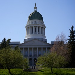 The State House in Augusta.