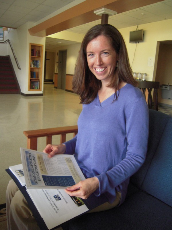 Bar Harbor native Catherine Reilly, 1997 graduate of the Maine School of Science and Mathematics in Limestone, returned to her alma mater as director of advancement in 2011.