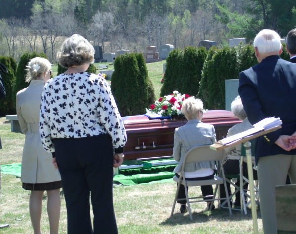 On Monday, May 6, 2013, mourners gather around the casket of former Maine Gov. John H. Reed who died at the age of 91 on Oct. 31, 2012, at George Washington University Hospital in Washington, D.C.
