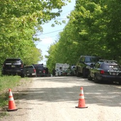 Police closed Winsaw Road at North Pownal Road in New Gloucester on Thursday during a standoff.