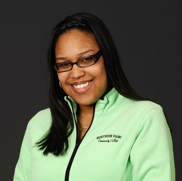 Myasia Williams, student of the year at Northern Maine Community College