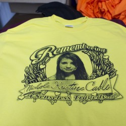 Glenburn screen printer sells tee-shirts for Cable's family