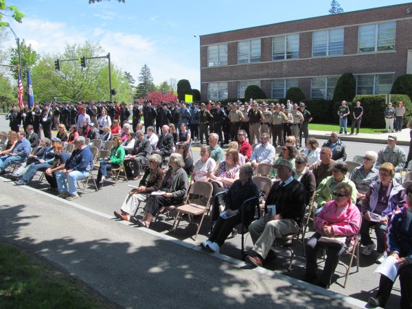 Dozens of law enforcement officers and members of the public gathered on Thursday, May 16, 2013, for a ceremony memorializing the 83 law enforcement officers from Maine who have died in the line of duty.