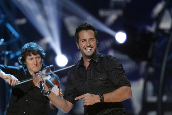 Luke Bryan (right) performs during the Grammy Nominations Concert in Nashville, Tenn., on Dec. 5, 2012.