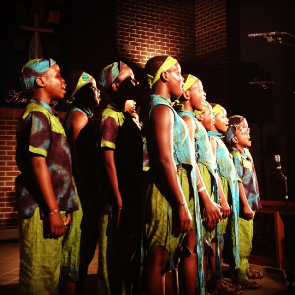 The African Children's Choir performs at a recent concert in Pueblo Colorado. It will perform Sunday at churches in Bangor and Ellsworth and Wednesday in Cape Neddick.