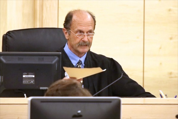 Superior Court Justice William Anderson is shown in court last week.