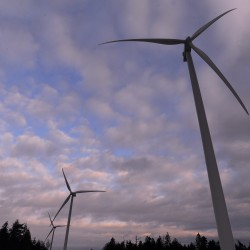 First Wind, which operates five wind farms in Maine, has proposed building what would be the largest wind farm in New England north of Skowhegan. In this photo from February 2013, turbines at First Wind's most recent wind farm project in Maine, Bull Hill Wind in Hancock County, are seen on Heifer Hill in Township 16.