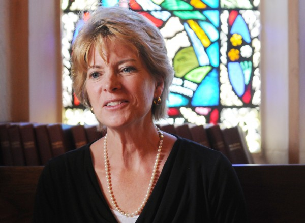 Beth Rogers, a member of All Souls Congregational Church, will receive a master's degree Wednesday from Grace Evangelical College and Seminary. The graduation ceremony will be held at All Souls this year, the first time it has been held at a mainline denomination's church.