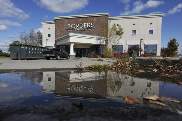 The former Borders store in Bangor, photographed Monday, Oct. 17, 2011.