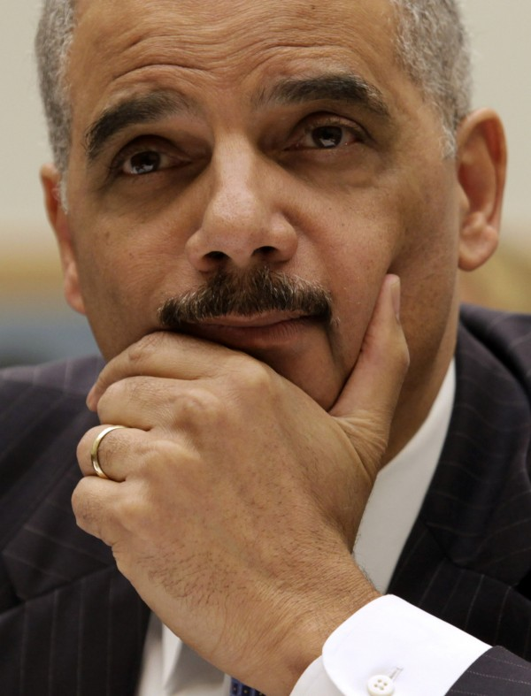 U.S. Attorney General Eric Holder testifies during a congressional hearing on May 15, 2013.