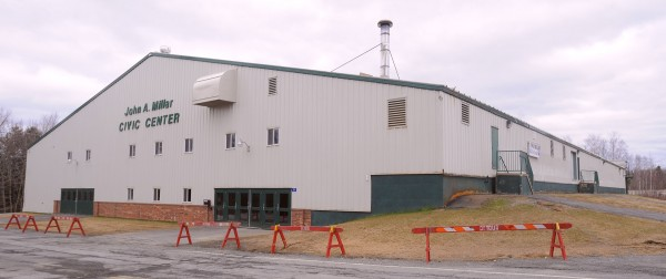 The John A. Millar Civic Center in Houlton, seen here in April 2012, is slated to get new hockey boards, according to town officials.