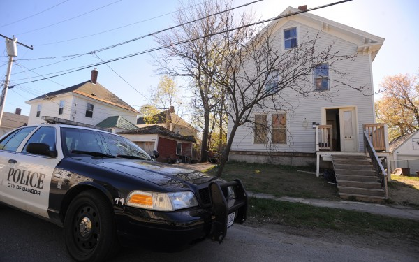 Police arrested Harold Rogers, 43, of Bangor at 80 Elm St. (pictured) after a brief standoff. He was charged with aggravated domestic violence assault that occurred Thursday.
