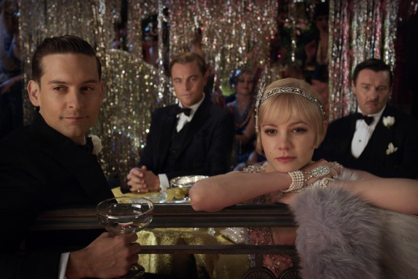 Tobey Maguire (from left) as Nick Carraway, Leonardo DiCaprio, as Jay Gatsby, Carey Mulligan as Daisy Buchanan and Joel Edgerton as Tom Buchanan in  &quotThe Great Gatsby.&quot