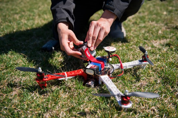 The University of Missouri's journalism program uses these quad-copter drones to teach its students.