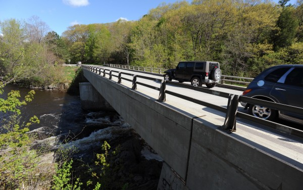 According to Bangor police, Officer Derek Laflin pulled a despondent man from the outer railing on the bridge over Valley Avenue Sunday evening at about 9:25 p.m.