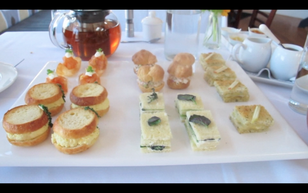 Little sandwiches, part of the three-course modern high tea served at Camden's Fromviandoux.