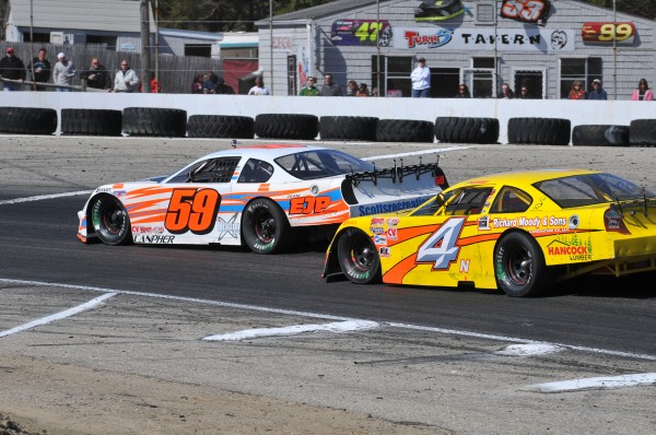 Manchester''s Reid Lanpher (left) competes in a recent PASS race at Beech Ridge Motor Speedway in Scarborough.