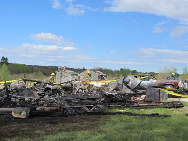 A fire of undetermined origin destroyed a barn and belongings at a Friendship Street property in Waldoboro on Saturday afternoon.