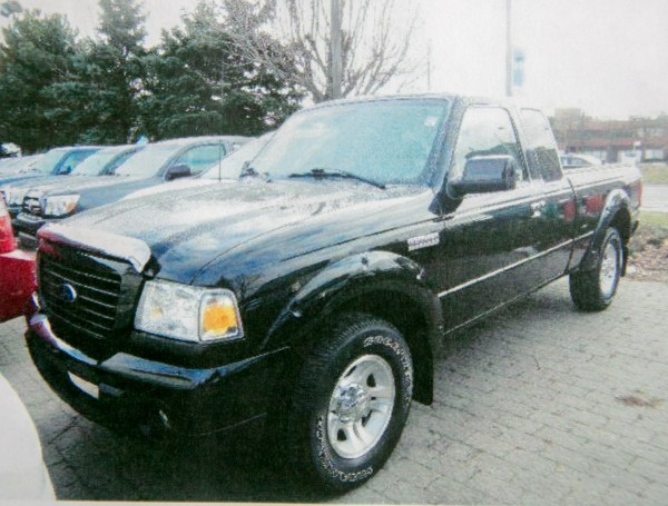 Local law enforcement officers are seeking information about a black Ford Ranger or truck similar to the one pictured that may have been in the Glenburn area on May 12, the day of Nichole Cable's disappearance.