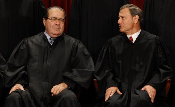 The ways in which Justice Scalia and Chief Justice Roberts don't see eye-to-eye are becoming more apparent