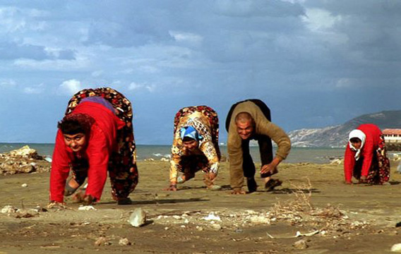 A publicity still from the documentary The Family That Walks on All Fours.