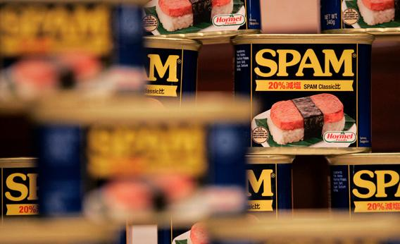 """The only part of the U.S. that fully appreciates Spam's promise is not Hormel's home state of Minnesota but Hawaii, where the canned meat is served and loved everywhere from fast-food restaurants to an annual """"Spam Jam"""" street festival."""