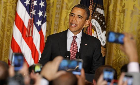 President Barack Obama hosts a reception in honor of Gay, Lesbian, Bisexual and Transgender Pride Month on June 15, 2012, shortly after declaring his support for same-sex marriage.