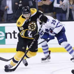 Bruins' scoring flurry buries Maple Leafs in playoff series opener