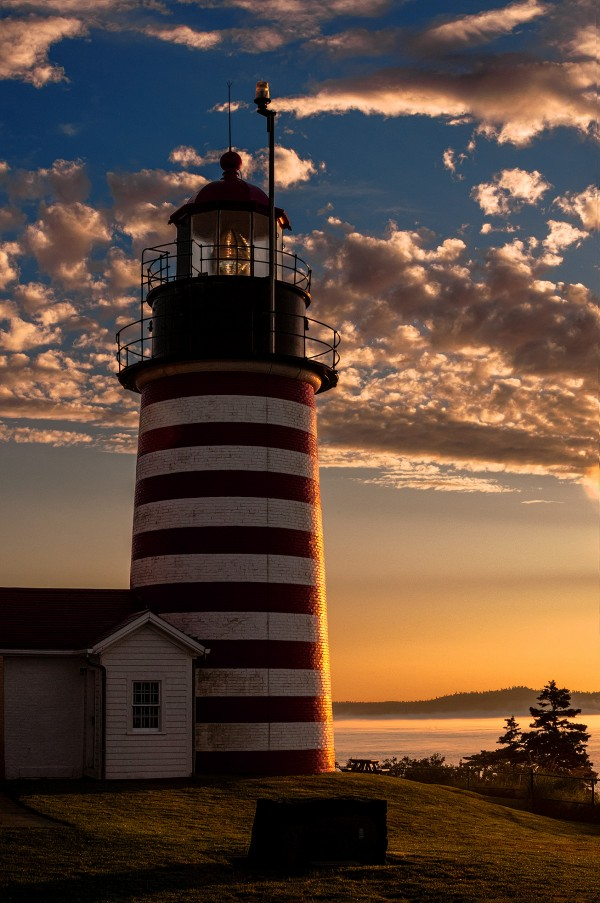 Early morning sun on West Quoddy Head Lighthouse