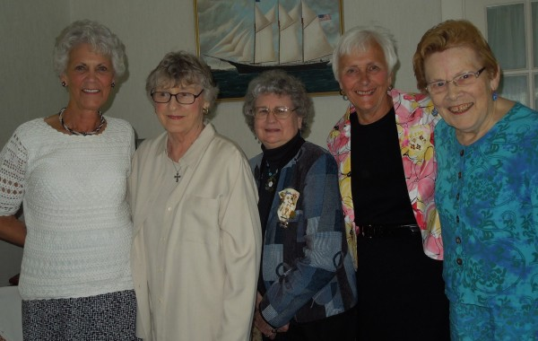 Brenda Harrington, Mary Stone, Sue Look, Arlene Woodman, and Beth Guiseley