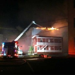 Fire hits Lewiston apartment buildings