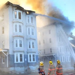 Four apartment buildings burn in Lewiston