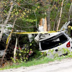 New Gloucester man injured after car goes airborne