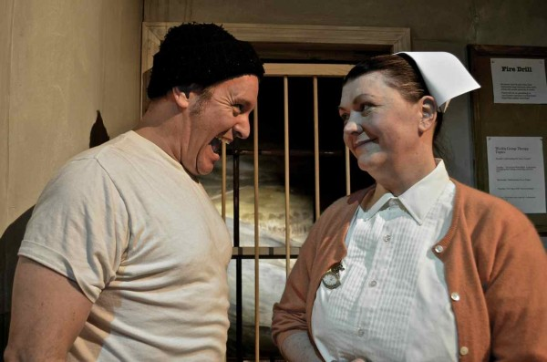 Tim Pugliese and Shari John in New Surry Theatre's &quotOne Flew Over the Cuckoo's Nest&quot
