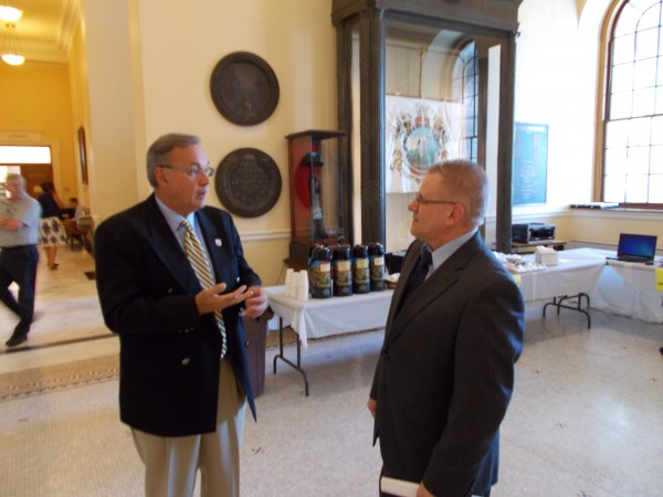 Peter Pare, Executive Director of the Maine Department of Labor's Bureau of Employment Services, and Patrick Therrien.