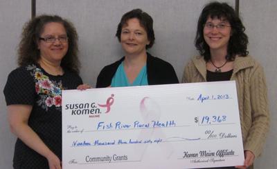 Komen Maine Affiliate Grants to Fish River Rural Health