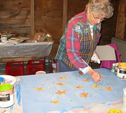 Artist Patience Sampson will be teaching a floor cloth workshop at Woodlawn, Friday, June 21 from 10 am to 4 pm.  The cost is $110 for Woodlawn members/$120 for non-members and includes all materials and lunch.  For details and registration, call Woodlawn at 667-8671 or visit www.woodlawnmuseum.org.