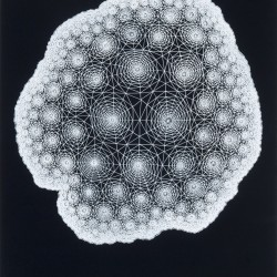Clint Fulkerson, White Nebula #7, gouache on paper, 22&quot x 30&quot