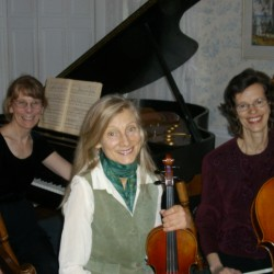 The Maine Highlands Classical Trio will perform at the Congregational Church in Dover-Foxcroft on Friday, May 17 at 7:00 p.m. to benefit the church's fuel assistance fund. The concert will feature works by Handel, Ravel, Gliere, and Mendelssohn. Other concerts will take place in Orono and Bangor. From left to right, violinist Susan Ramsey, cellist Ruth Fogg, and pianist Margery Aumann. For more information, call 564-0043.