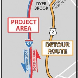 I-95 northbound from Island Falls to Oakfield reopening to traffic Oct. 21