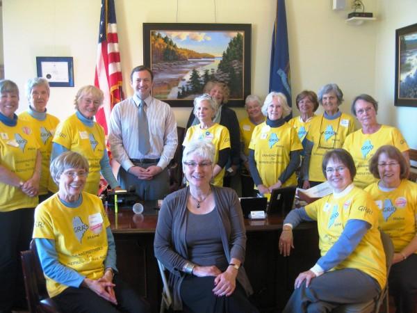 GRR members meet with House Speaker Eves; former legislator Percy in middle center